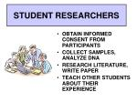 student researchers8
