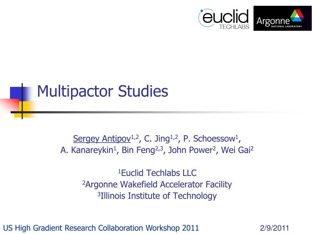 multipactor studies l.