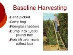baseline harvesting