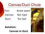 canvas duct chute