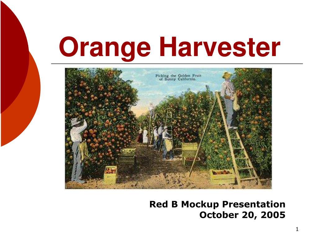 orange harvester l.