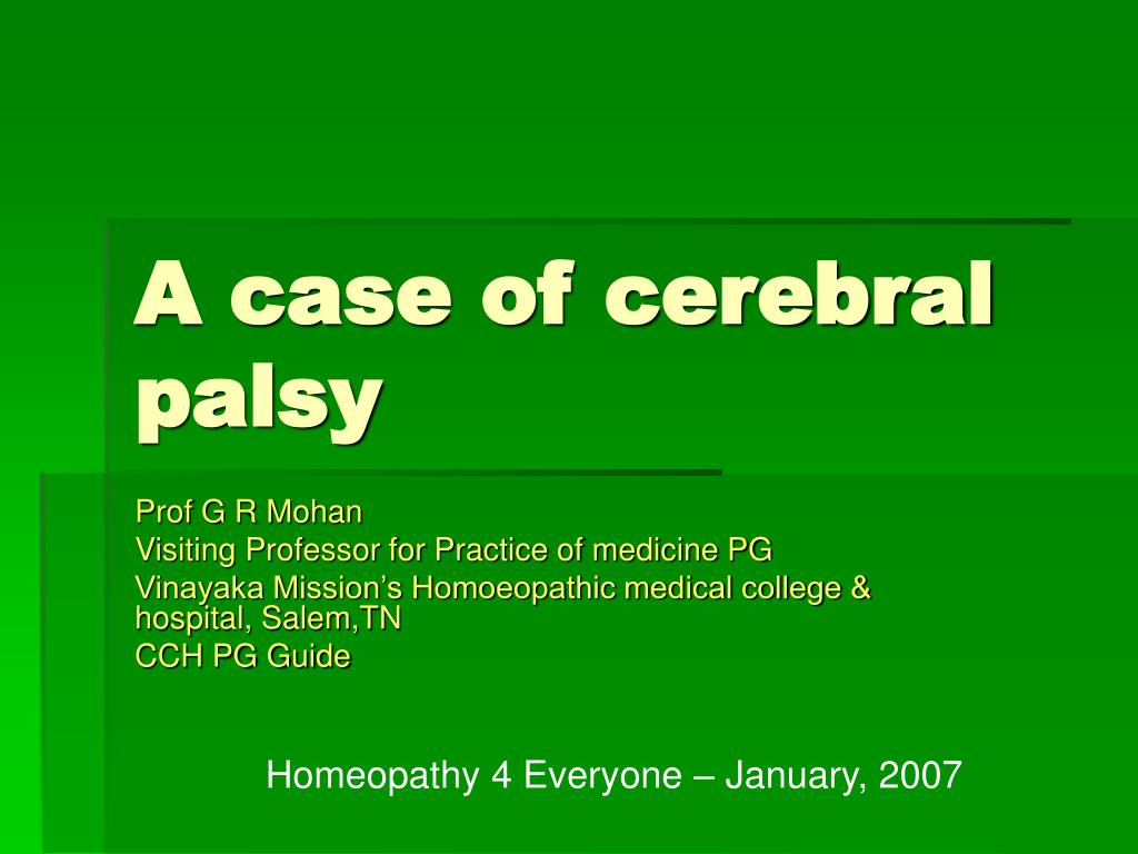 a case of cerebral palsy l.