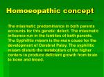 homoeopathic concept