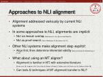 approaches to nli alignment