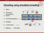 decoding using simulated annealing