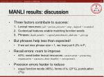 manli results discussion
