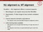nli alignment vs mt alignment