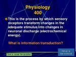 physiology 400