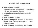 control and prevention14