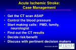 acute ischemic stroke case management