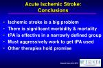 acute ischemic stroke conclusions