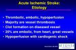 acute ischemic stroke etiology