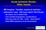 acute ischemic stroke other issues