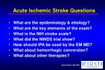 acute ischemic stroke questions