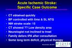 acute ischemic stroke specific case outcome