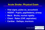 acute stroke physical exam