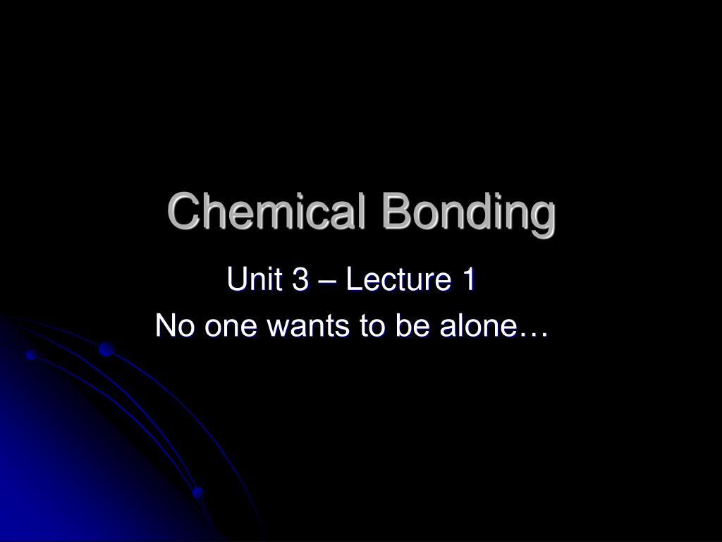 chemical bonding l.