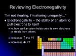reviewing electronegativity