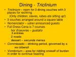 dining triclinium