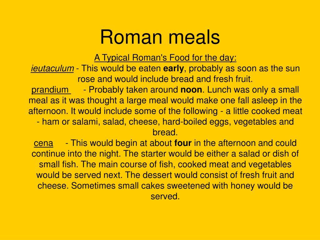 roman meals l.