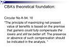 cba s theoretical foundation