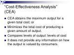 cost effectiveness analysis cea