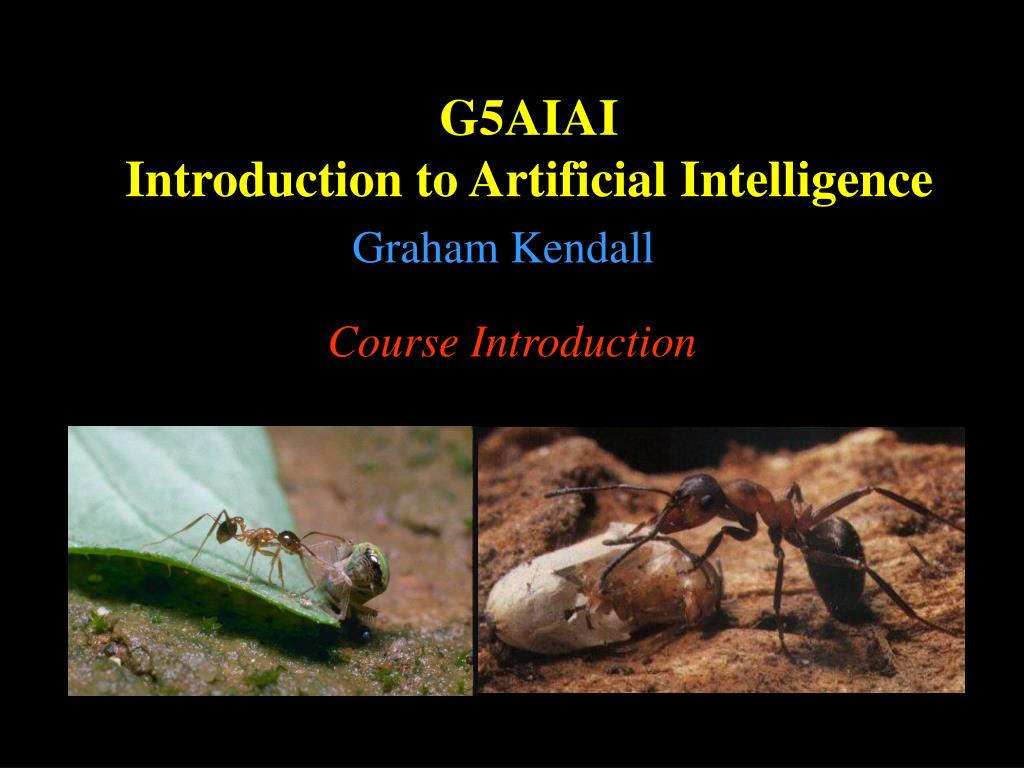 g5aiai introduction to artificial intelligence l.