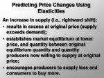 predicting price changes using elasticities30