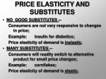 price elasticity and substitutes