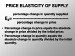 price elasticity of supply19