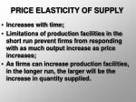 price elasticity of supply23