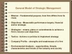 general model of strategic management6
