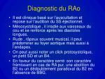 diagnostic du rao