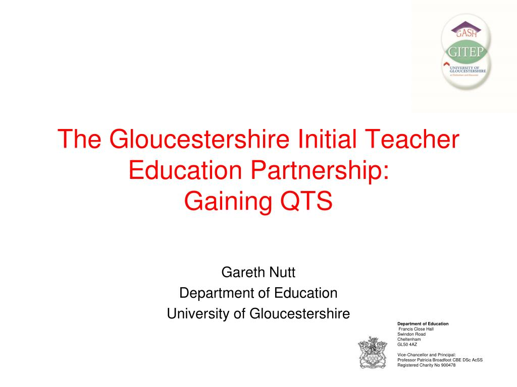 the gloucestershire initial teacher education partnership gaining qts l.
