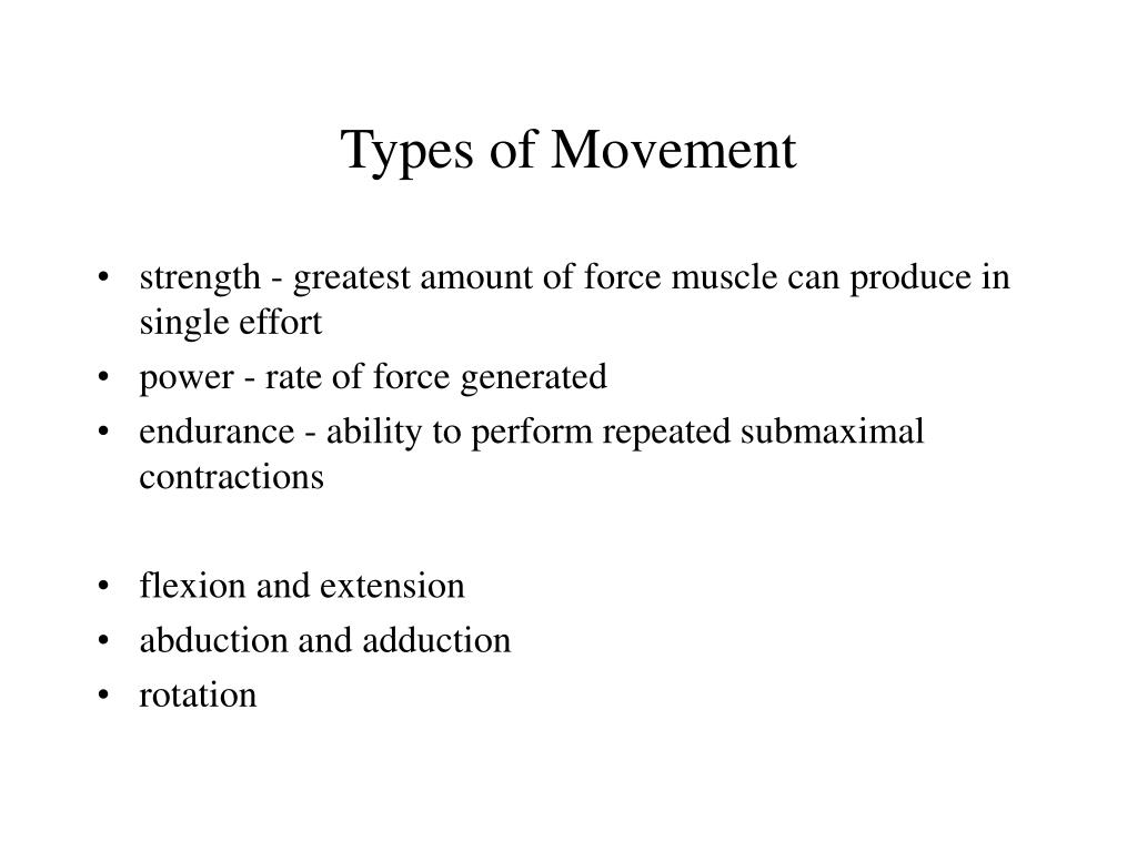 types of movement l.