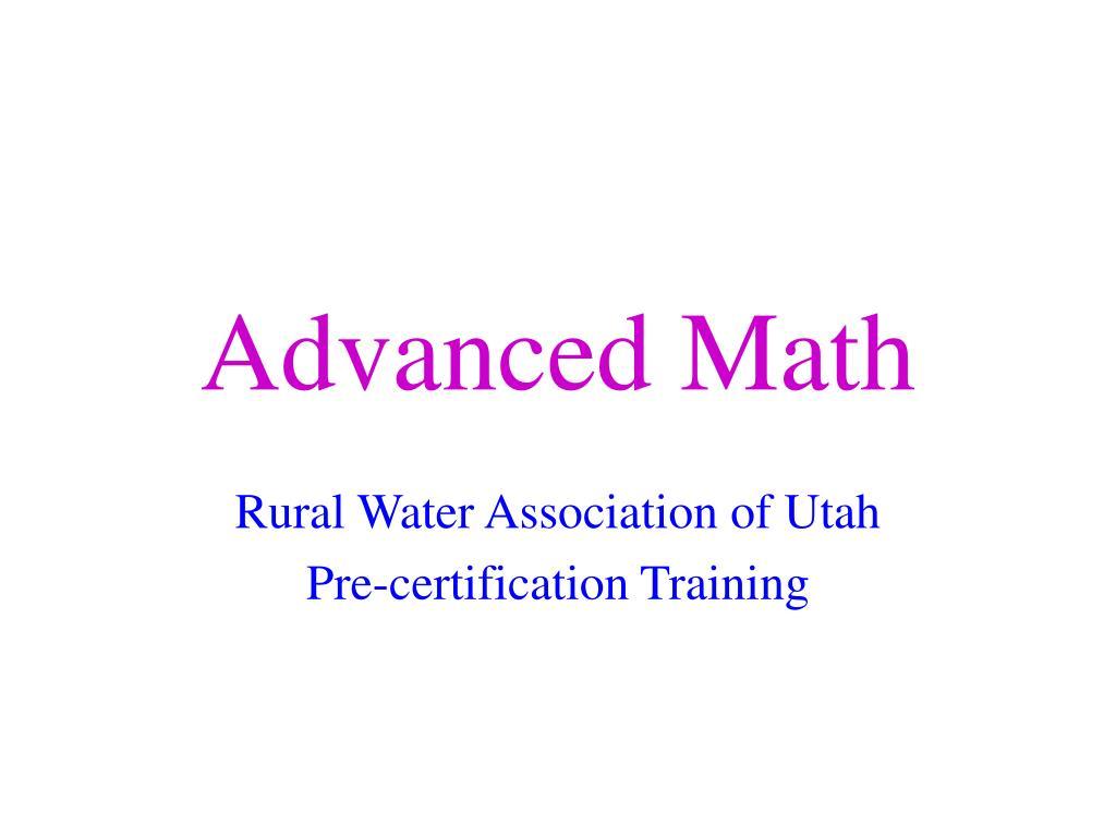 advanced math l.