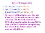 mgd conversion