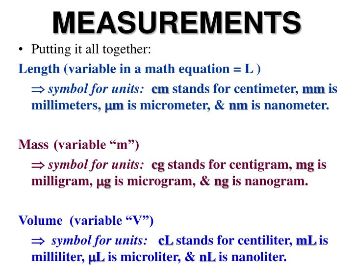 Ppt Measurements Powerpoint Presentation Id351178