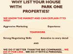 why list your house with park one properties