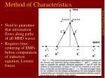 method of characteristics