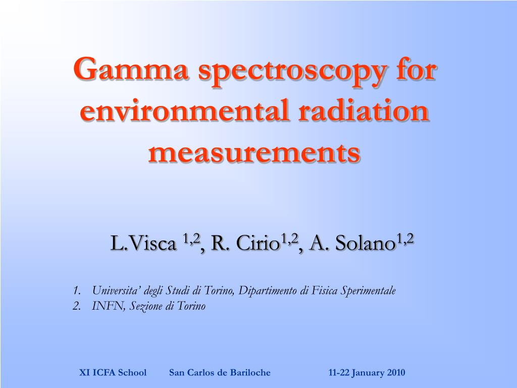 gamma spectroscopy for environmental radiation measurements l.