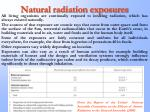 natural radiation exposures