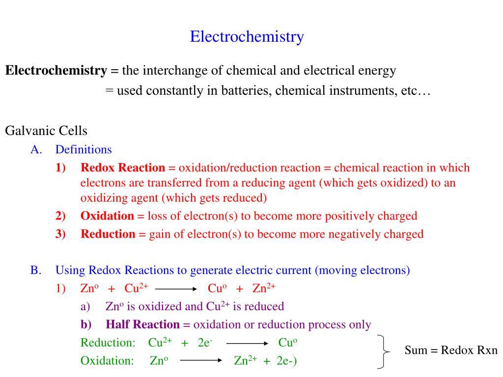 electrochemistry l.