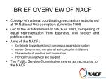 brief overview of nacf