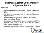 business against crime industry alignment forum