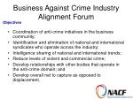 business against crime industry alignment forum25