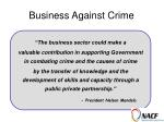 business against crime23