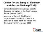 center for the study of violence and reconciliation csvr