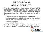 institutional arrangements15