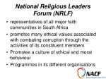 national religious leaders forum nrlf